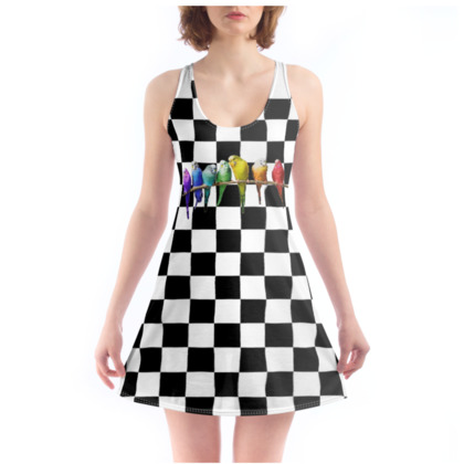 Checkerboard Budgies Chemise