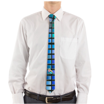 Colour Chart Lilac Bird Tie