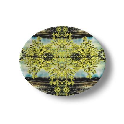 "ninibing34 China Plate ""irresistible nature"" Keramik Teller, Unterglasur 20 cm"