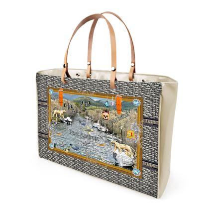 Shopper Bag mit BLACK VINYL ninibing34 YARD DESIGN