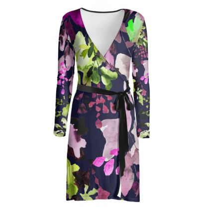 Water Leaf wrap dress