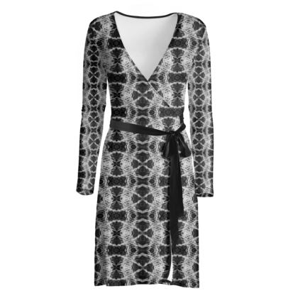Black and white Gaudi wrap dress