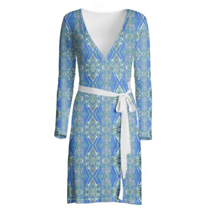 Geometric Gaudi wrap dress