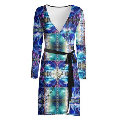 219,50 € Wickelkleid! ninibing34 interpretiert MIAMI MEDUSA BLUE auf ein zauberhaftes Wickelkleid! size M