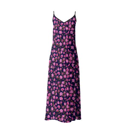 Floral Long Slip Dress