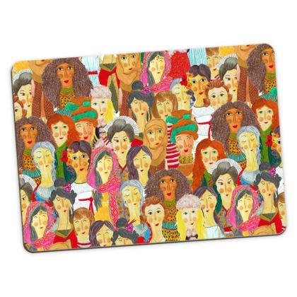 Pattern #75 - The gaze of sisterhood - Large Placemats