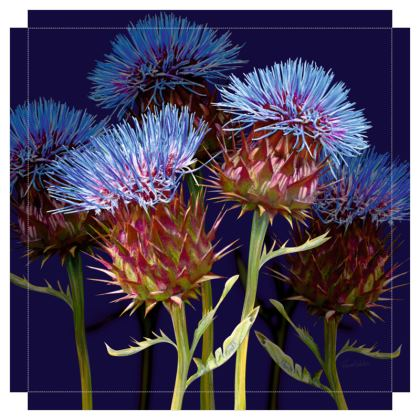 Scottish Thistle Canvas Print. Size 60cm x 60cm