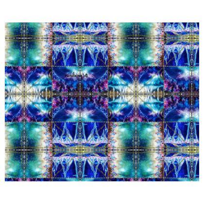 € 239,00 Kimono Morgenmantel MIAMI MEDUSA BLUE warm in plüschigem Samt size 2 XL