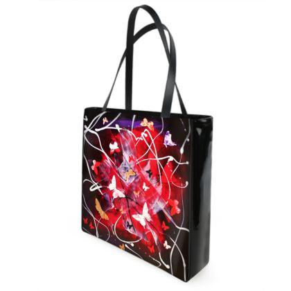 "Shopper Bag ""Butterfly Cascade"" series by Paresh Nrshinga/ art gift"