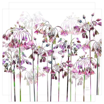 Allium Bells Canvas Print. Size 40cm x 40cm