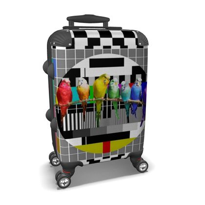 Test Card Budgies Suitcase