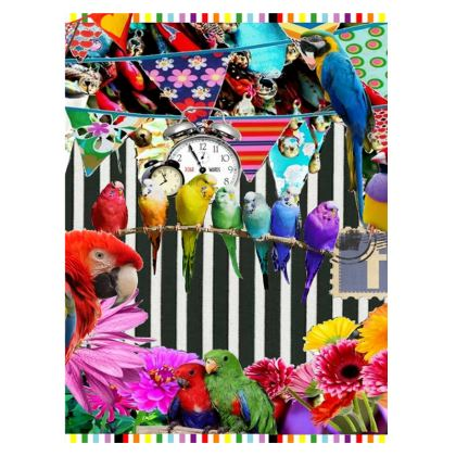 Birds and Bunting Suitcase