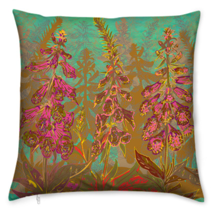 Fun with Foxgloves Cushion