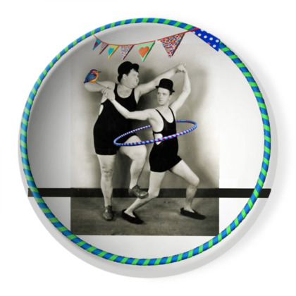 Laurel and Hardy Hooping Ornamental Bowl