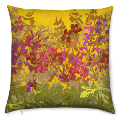 A Day in the Sun (Geraniums) Cushion
