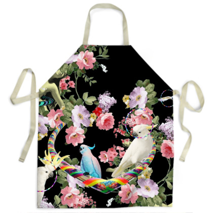 Cockatoos and Hoops Apron