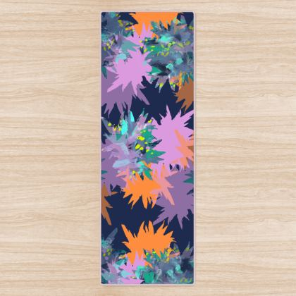 Inky Spike Yoga Mat