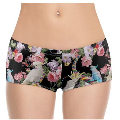 Cockatoos and Hoops Hot Pants