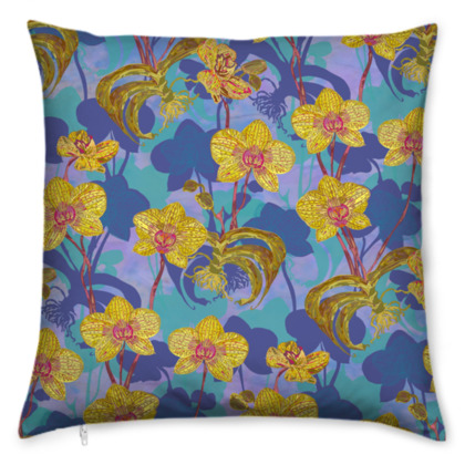 Tropical Orchids Cushion