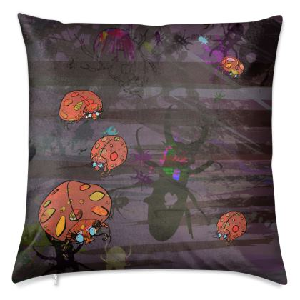 'The Night Watch with Love Bugs' Luxury Cushion