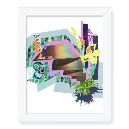 Zig Framed Art Print