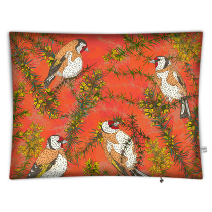 Goldfinches in Gorse Rectangular Floor Cushion