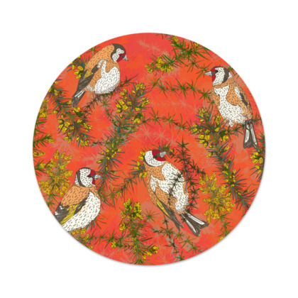 Goldfinches in Gorse Serving Platter