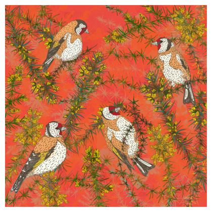 Goldfinches in Gorse China Plate