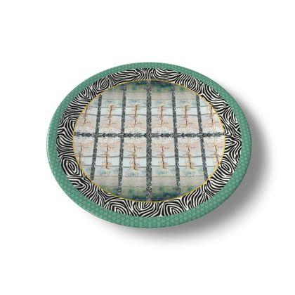 69,- DESIGNER Keramik Teller BRITISH LYME REGIS, china plate im bezaubernden ninibing34 DESIGNTeller, China plate 20 cm