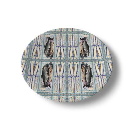 China Plate FISH Keramik, 20 cm, absoluter SAISON PREIS nur für kurze Zeit!