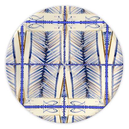 49.- Teller, China plate 20 cm ninibing34 BLUE DESIGN Keramik Teller  Ein außergewöhnliches Geschirr oder einzigartiges Wohnaccessoire: