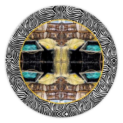 69,- DESIGNER Keramik Teller BRITISH LANDSCAPE, china plate im bezaubernden ninibing34 DESIGNTeller, China plate 20 cm