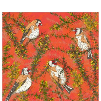 Goldfinches in Gorse Fabric Placemat