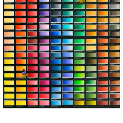 Colour Chart Hard Glasses Case