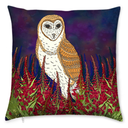 Fireweed Barn Owl Cushion