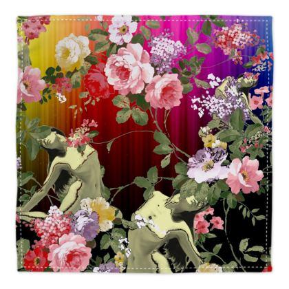 Rainbow Flora Bandana