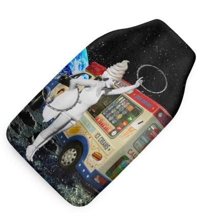 Miss Whippy Hooping in Space Hot Water Bottle