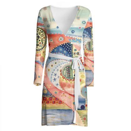 MUELLE UNO wrap dress by Rachel Rosa ART