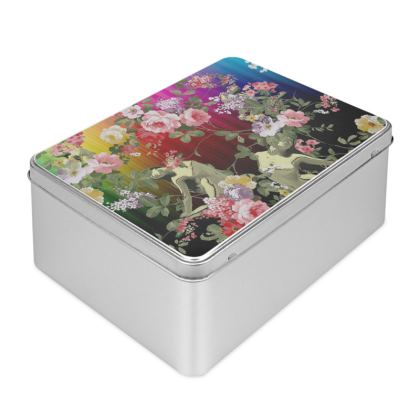 Flora Rainbow Biscuit Tin