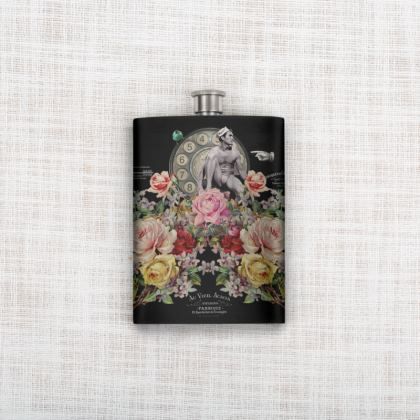 Nuit des Roses Revisited for Him Hip Flask