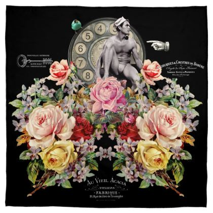 Nuit des Roses Revisited for Him Scarf Wrap or Shawl