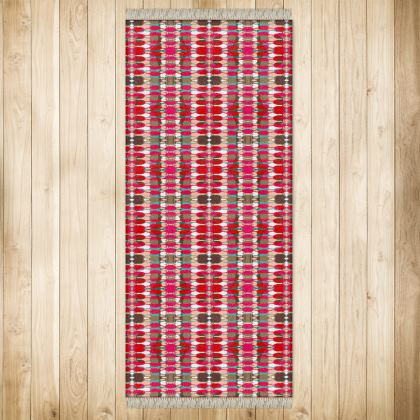 Red Teasel Geo Rug Extra Large