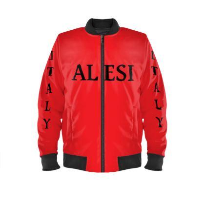 Alesi Custom Bomber Jacket- Red/Black