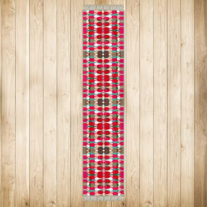 Red Teasel Geo Runner - Extra Long