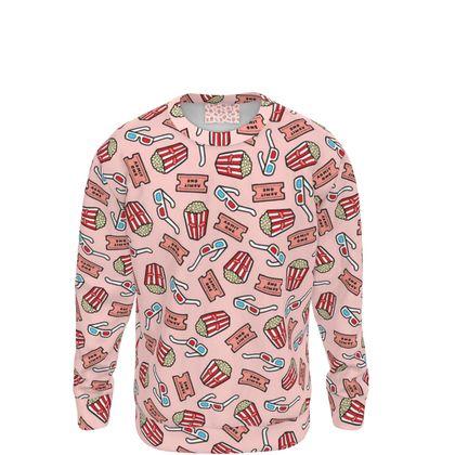Movie Pattern in Pale Pink Sweatshirt