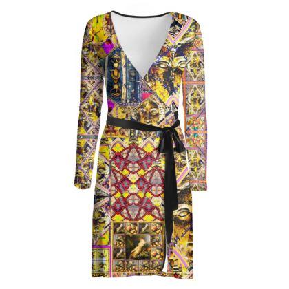 219,50 € AWESOME Wickelkleid! Wrap chilled dress: ninibing34 interpretiert die minerva von Bath neu auf diesem zauberhaften Wickelkleid! size 2 XL