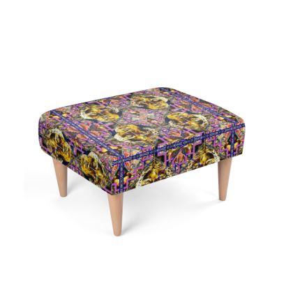 477,- Fußhocker MINERVA violett Bath ninibing34's MINERVA RETRO: take a seat and chill! Retro Foot Stool