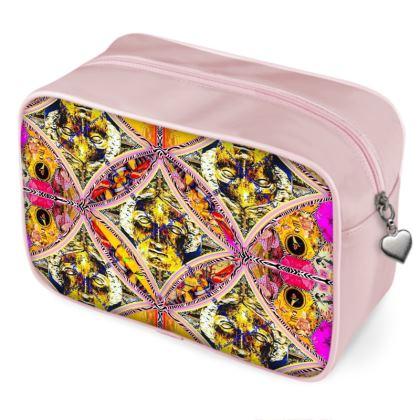 129,- ninibing34's MINERVA pink Beauty DESIGNER Bag 2 seitig bedruckt, Kulturbeutel, Wash Bag