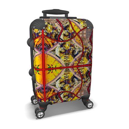 279,- KOFFER ninibing34 DESIGN Minerva Yellow Red, max. Cabin size