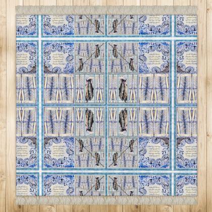 """€ 472,00 ninibing34 DESIGNER Teppich """"Dover Sole"""" 128 x 128 cm, seidige Qualität mit Fransen"""